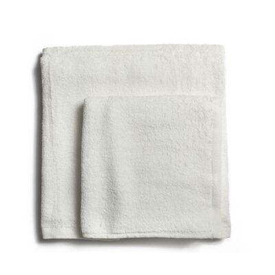 Ręcznik kąpielowy bawełniany 550 g/m2 gruby splot, biały