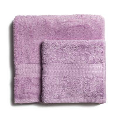 Ręcznik kąpielowy bawełniany 550 g/m2 gruby splot, jasny fiolet