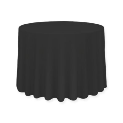 Plamoodporny okrągły obrus - kolor czarny