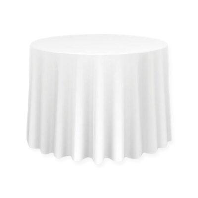 Okrągły obrus - kolor biały