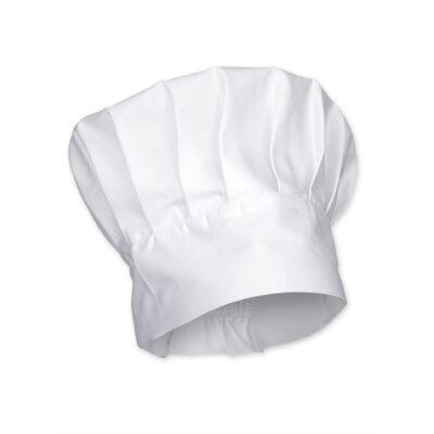 Czapka kucharska budyniówka - biała