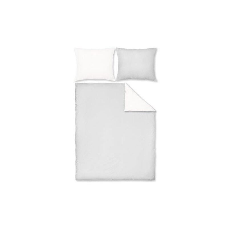 Pościel Maco-Jersey Dwukolorowa (szaro biała 34j). Komplet 3 częściowy - Dream Line