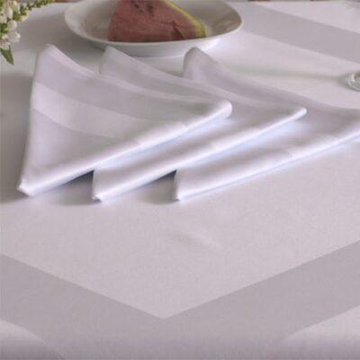 Serwetki bankietowe bawełniane z bordiurą - Odpasowane - 10 szt