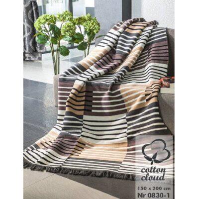 Koc bawełniano-akrylowy 150x200 - 0830/1