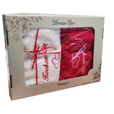 Zestaw Upominkowy na Walentynki - 2 Ręczniki 50x100cm